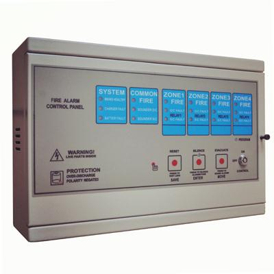 KS-501-4 Conventional Fire Alarm Control Panel (4-zone)